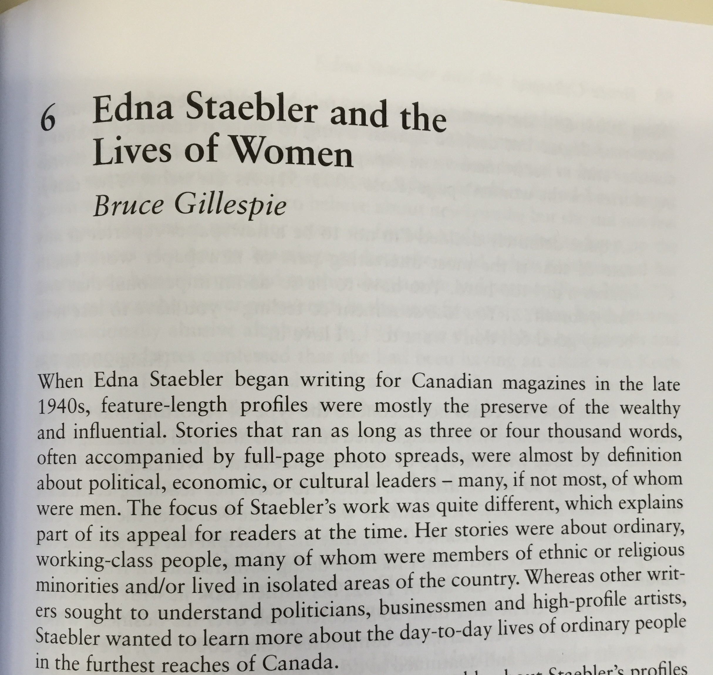 Edna Staebler and the Lives of Women