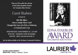 Edna Staebler Award event